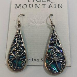 Puka shell dragonfly earrings